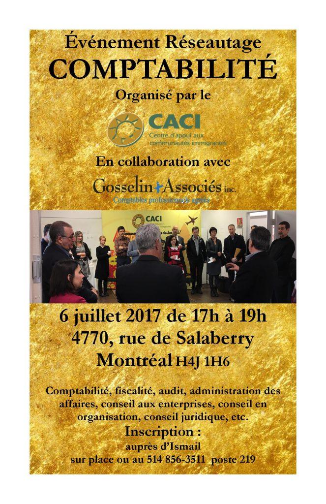 Événement Réseautage Comptabilité @ CACI   Montréal   Québec   Canada
