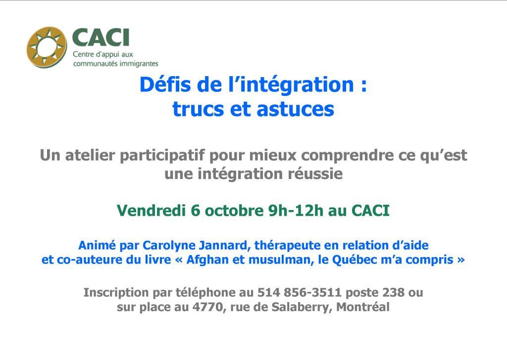 Défis de l'intégration @ CACI | Montréal | Québec | Canada