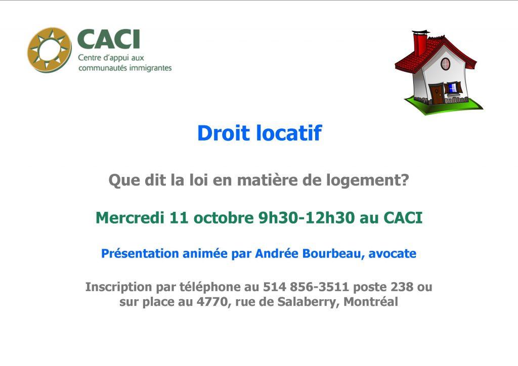 Droit locatif @ CACI | Montréal | Québec | Canada