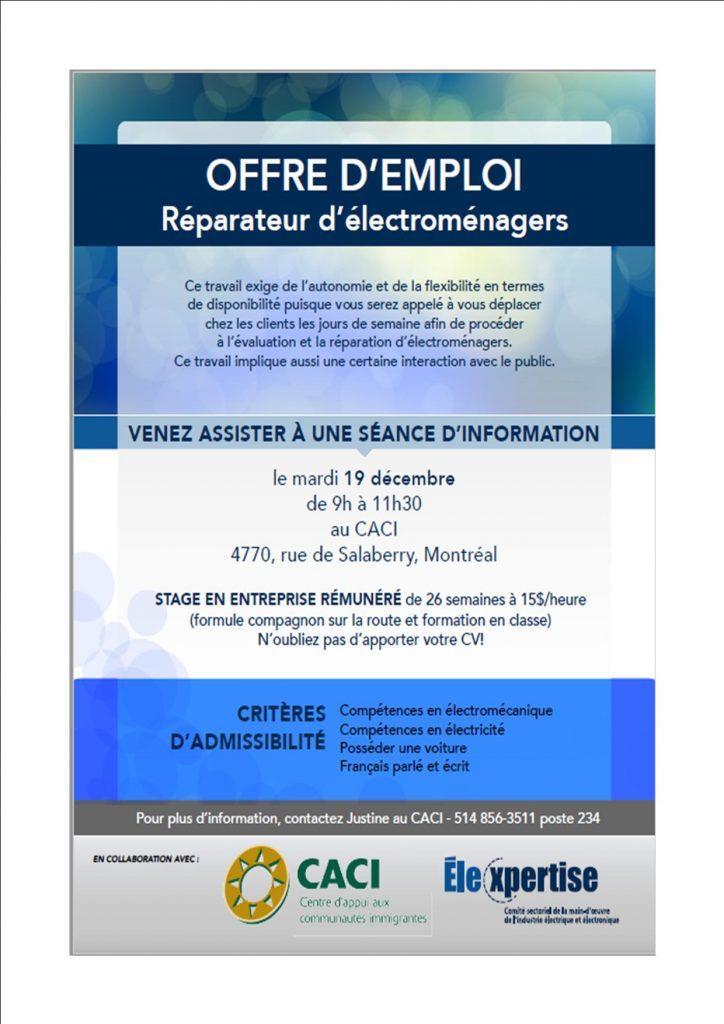 Séance d'information Élexpertise @ CACI | Montréal | Québec | Canada