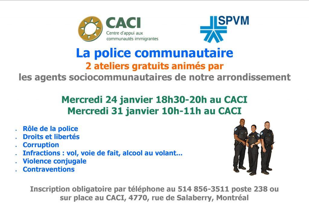 Séance d'information - La police communautaire @ CACI | Montréal | Québec | Canada