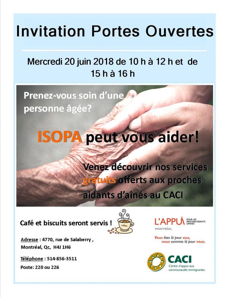 Portes ouvertes pour les proches aidants d'aînés @ CACI | Montréal | Québec | Canada