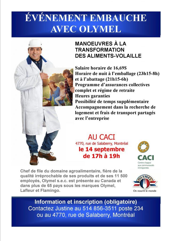 Olymel embauche @ CACI | Montréal | Québec | Canada