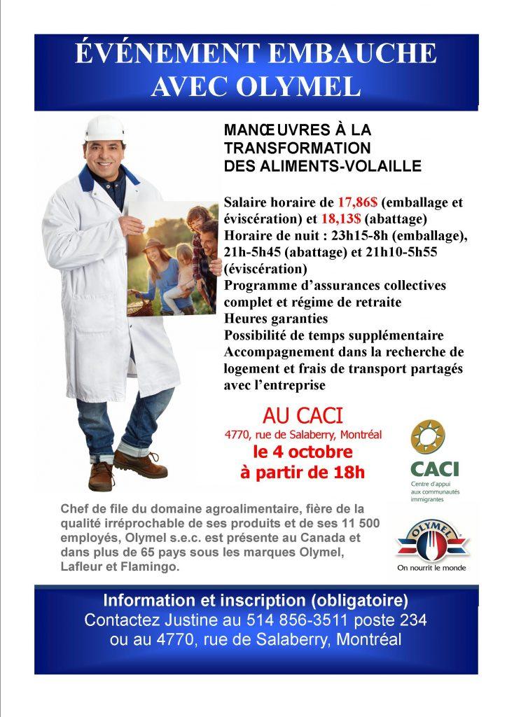 Événement Embauche avec Olymel @ CACI | Montréal | Québec | Canada