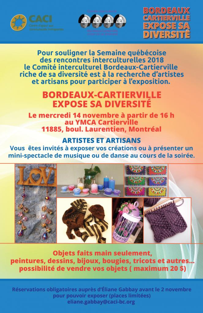 Bordeaux-Cartierville expose sa diversité @ YMCA Cartierville | Montréal | Québec | Canada