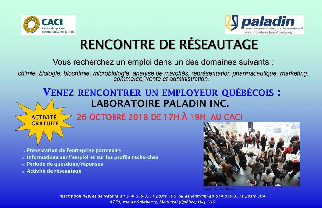 Rencontre de réseautage avec l'entreprise Paladin @ CACI | Montréal | Québec | Canada