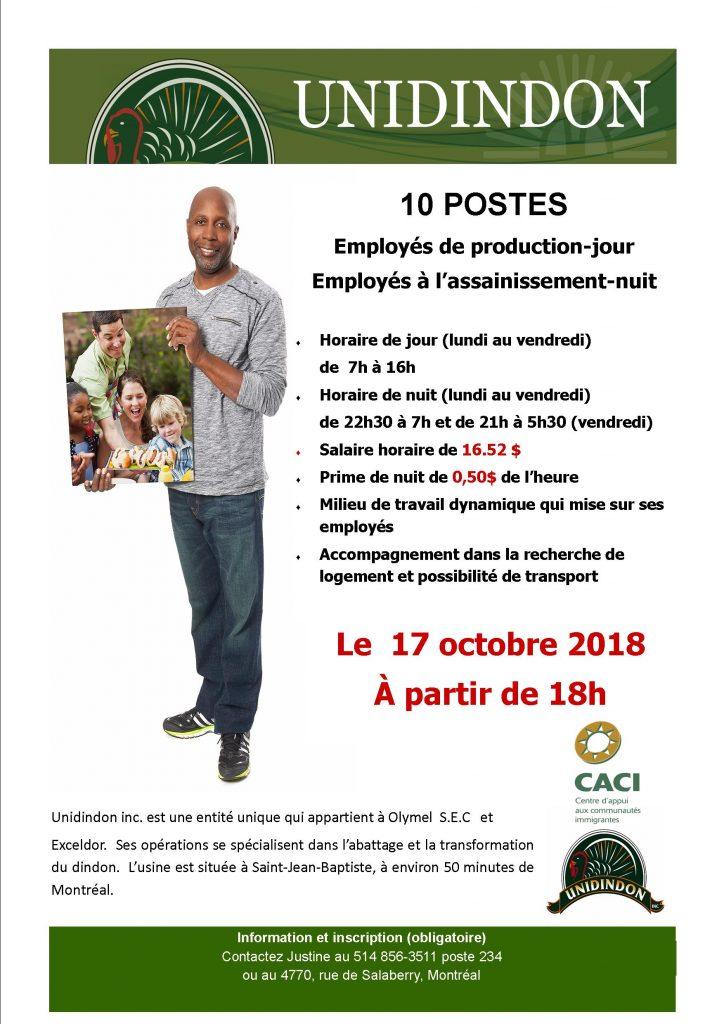 Événement Embauche avec Unidindon @ CACI | Montréal | Québec | Canada