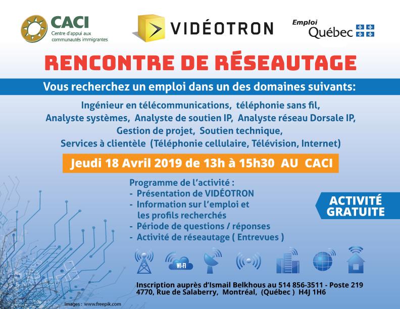 Événement Vidéotron @ CACI