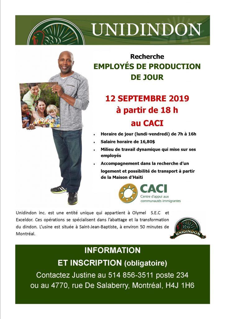 Olymel Unidindon recrute des employés de production @ CACI