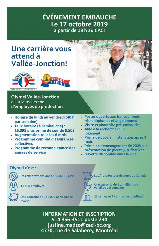 Olymel Vallée-Jonction recrute au CACI @ CACI