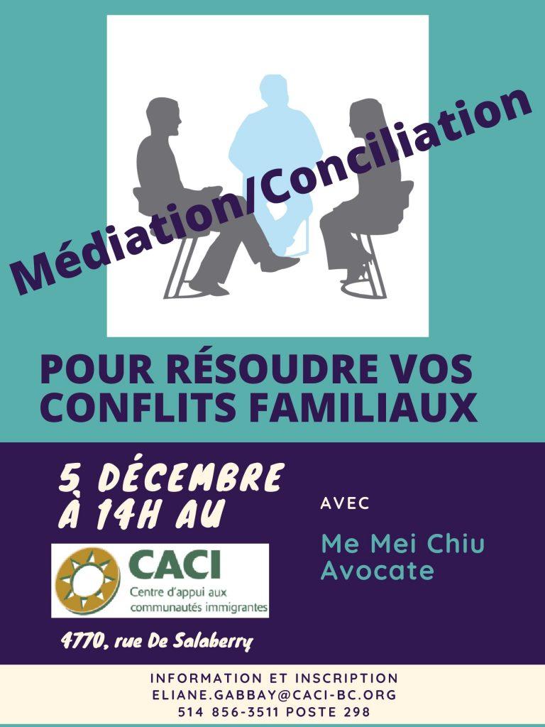 Médiation/Conciliation @ CACI